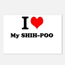 I Love My SHIH-POO Postcards (Package of 8)