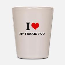 I love My YORKIE-POO Shot Glass