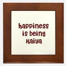 happiness is being Kaiya Framed Tile