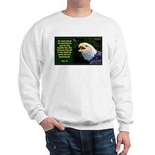 Talking Eagle (Left) - John 3:16 Sweatshirt