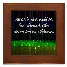 Dance In The Puddles Framed Tile