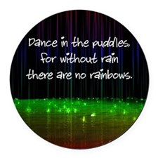 Dance In The Puddles Round Car Magnet