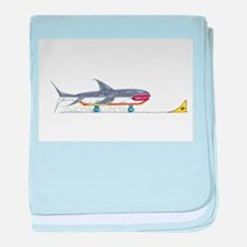Launch Ramp Shark baby blanket