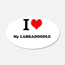 I Love My LABRADOODLE Wall Decal