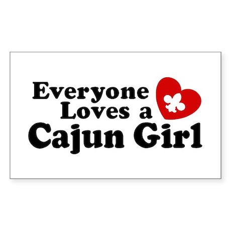 Everyone Loves a Cajun girl Rectangle Sticker