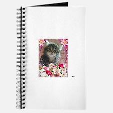 cute brown tabby siberian kitten face flor Journal
