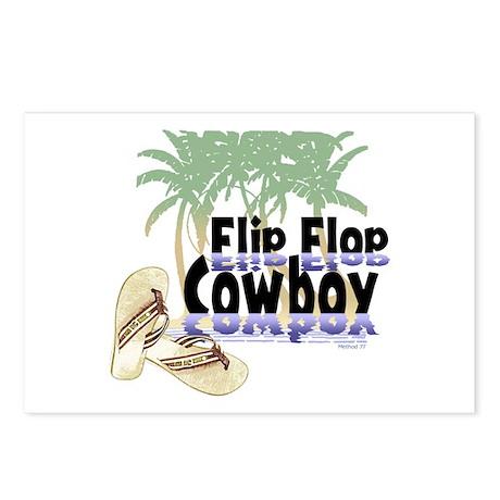 Flip Flop Cowboy Postcards (Package of 8)
