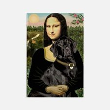 Mona's Black Lab Rectangle Magnet