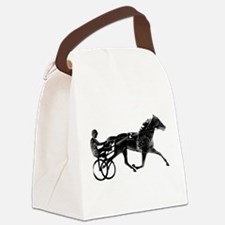 Cute Harness horses Canvas Lunch Bag