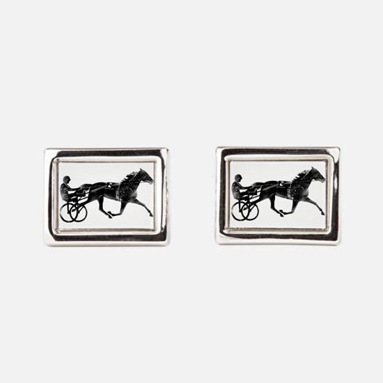 Cute Harness horses Rectangular Cufflinks