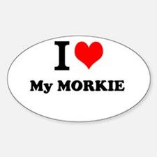 I Love My MORKIE Decal