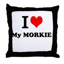 I Love My MORKIE Throw Pillow
