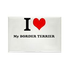 I Love My BORDER TERRIER Magnets