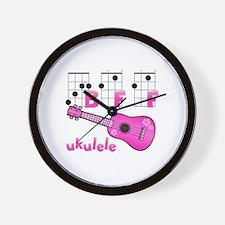 Ukulele BFF Wall Clock