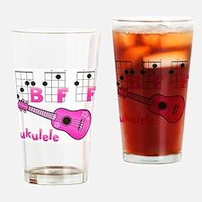 Ukulele BFF Drinking Glass