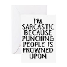 Sarcasm vs Punching Greeting Card