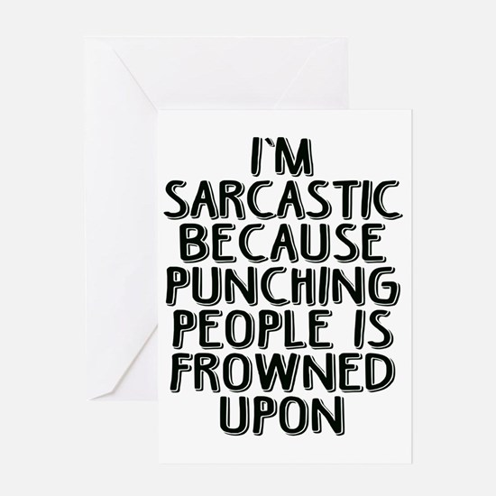 Sarcasm vs Punching Greeting Card