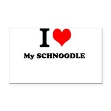 I Love My SCHNOODLE Rectangle Car Magnet
