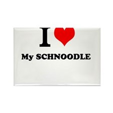 I Love My SCHNOODLE Magnets