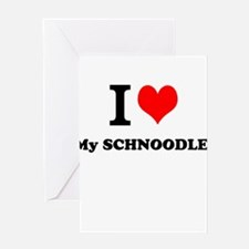 I Love My SCHNOODLE Greeting Cards