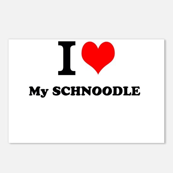I Love My SCHNOODLE Postcards (Package of 8)
