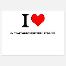I Love My STAFFORDSHIRE BULL TERRIER Invitations