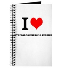 I Love My STAFFORDSHIRE BULL TERRIER Journal