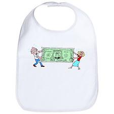 Stretching Dollar Bib
