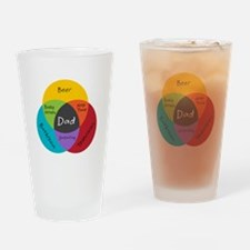 Venn Dadigram Drinking Glass