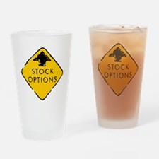 Stock Options Sign Drinking Glass