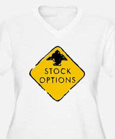 Stock Options Sign Plus Size T-Shirt