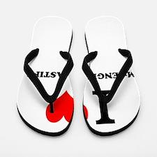 I Love My ENGLISH MASTIFF Flip Flops