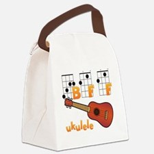 Unique Ukulele player Canvas Lunch Bag