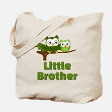Little Brother Owl Green Tote Bag