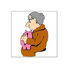 Woman And Piggy Bank Sticker