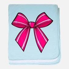 Bow Pink baby blanket