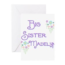 Big Sister Madelyn Greeting Cards (Pk of 10)