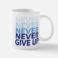 Never Give Up Blue Light Mugs