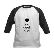 I Heart My Geek Dad (Black) Baseball Jersey
