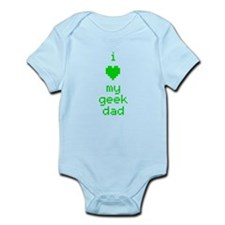 I Heart My Geek Dad (Green) Body Suit