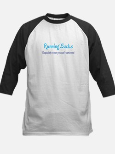 Running Sucks - catch me Baseball Jersey