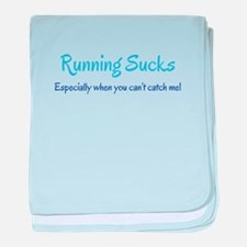 Running Sucks - catch me baby blanket
