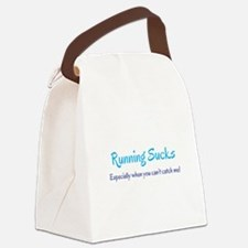 Running Sucks - catch me Canvas Lunch Bag