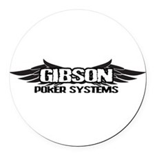 GIBSONPOKERSYSTEMS.png Round Car Magnet