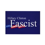Clinton = Fascist Rectangle Magnet (10 pack)