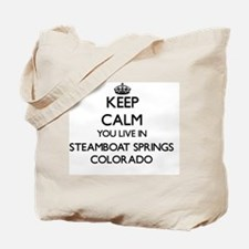 Keep calm you live in Steamboat Springs C Tote Bag