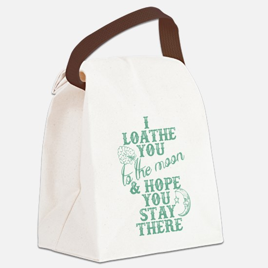Hate You To The Moon And Back Canvas Lunch Bag