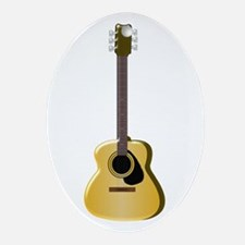 Acoustic Guitar Ornament (Oval)