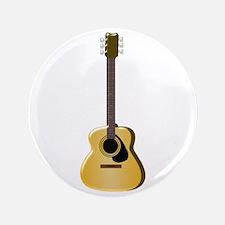 """Acoustic Guitar 3.5"""" Button"""