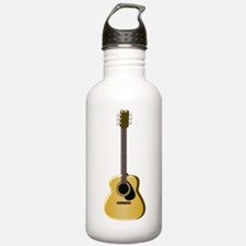 Acoustic Guitar Sports Water Bottle